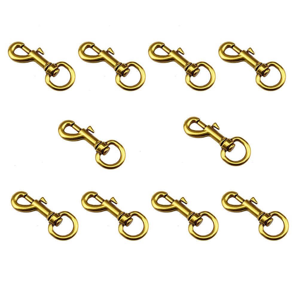 RZDEAL 10pcs 1.73 x 0.66 Antique Gold Tone Swivel Lobster Claw Clasps Snap Hook for Handbag Purse Bag Luggage Car House Key Ring DIY Craft