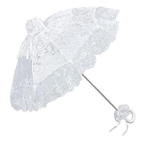 VON LILIENFELD Sombrilla boda nupcial mujer moda accesorio Josephine blanco