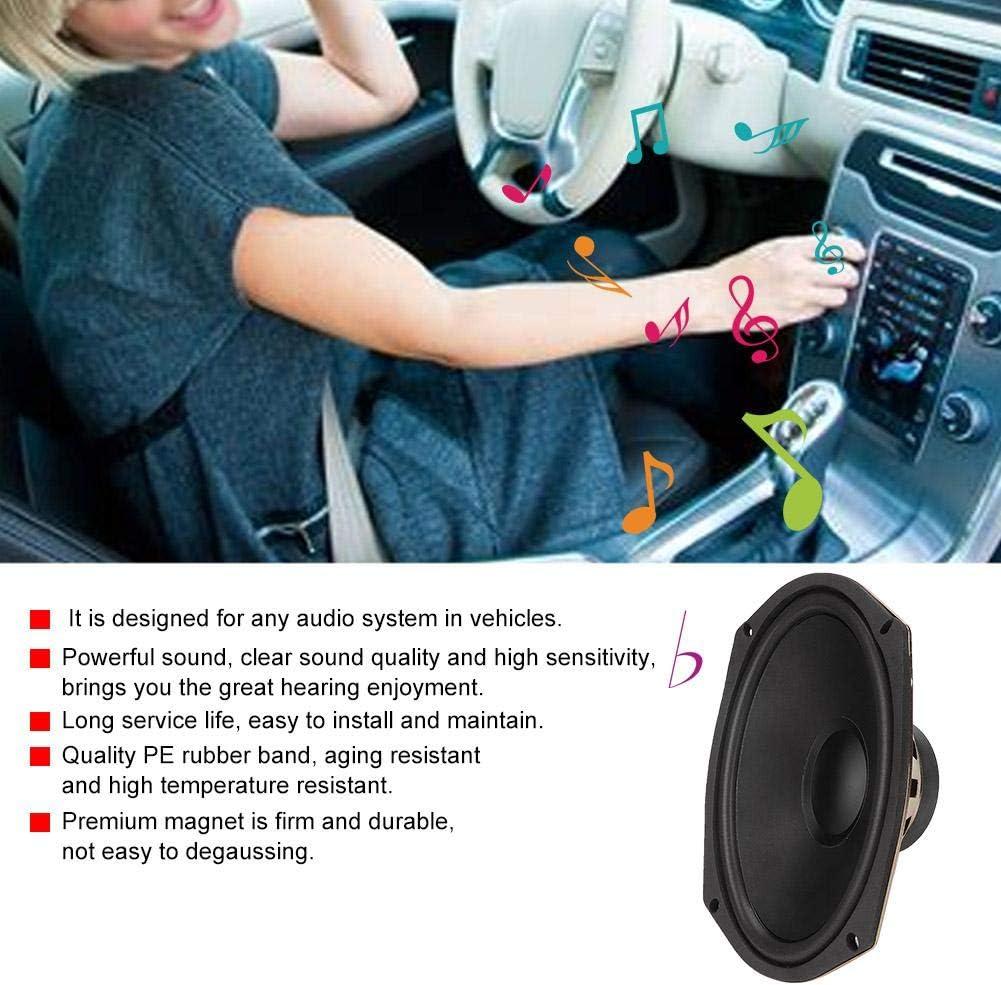Negro 600W 12V 6x9Inch Altavoces coaxiales de audio est/éreo de alta fidelidad para autom/óvil Auto Altavoz Altavoces coaxiales para autom/óvil