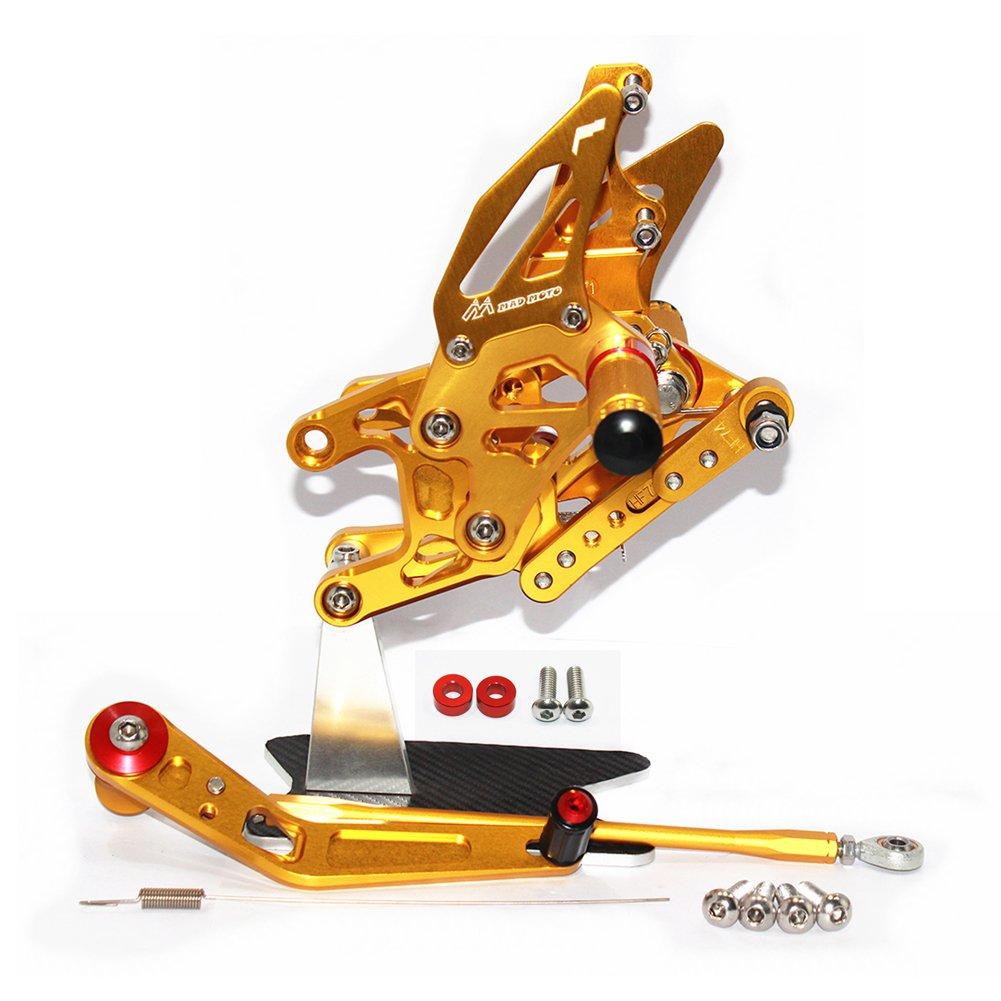 Gold CNC Motorbike Adjustable Foot Rests for CBR1000RR 2012-2017 Rearsets