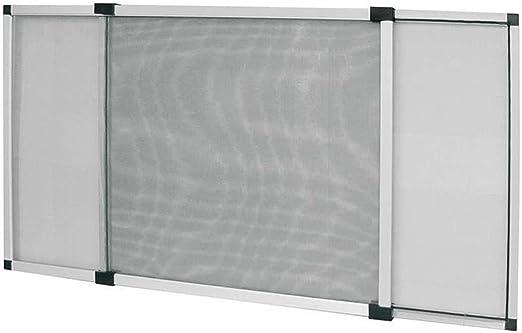 Mosquitera extensible medidas 50x75-75x100 color aluminio o blanco marfil con cepillo para puertas ventanas: Amazon.es: Bricolaje y herramientas