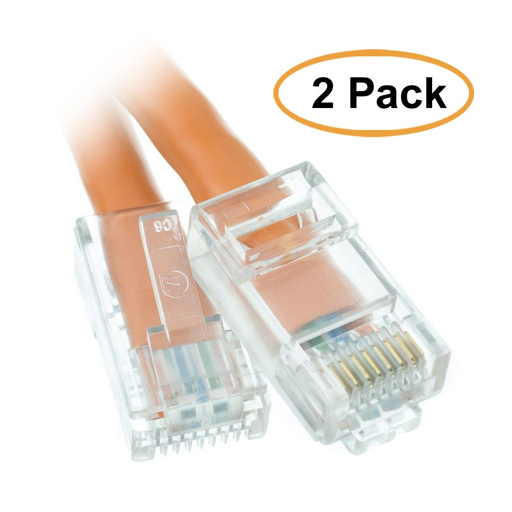 Acl 1 Feet Cat5e Rj45 Bootless Ethernet Patch Cable Black 5 Foot Part Number 10x6 Orange 10 Pack Computers Accessories