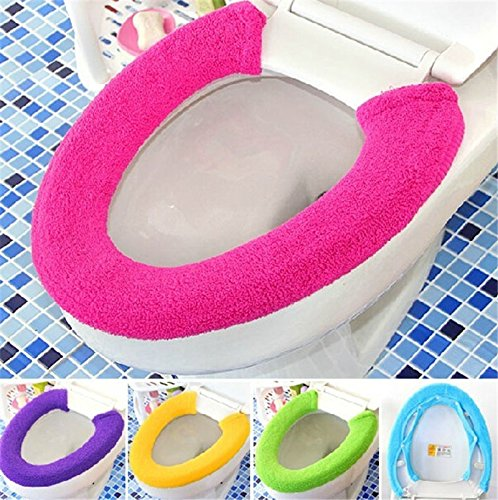 Lxbin SuperDeals All Shape Toilet Cover Seat Lid Pad Bathroom Protector Closestool Soft Warmer HI HIgifts Blue
