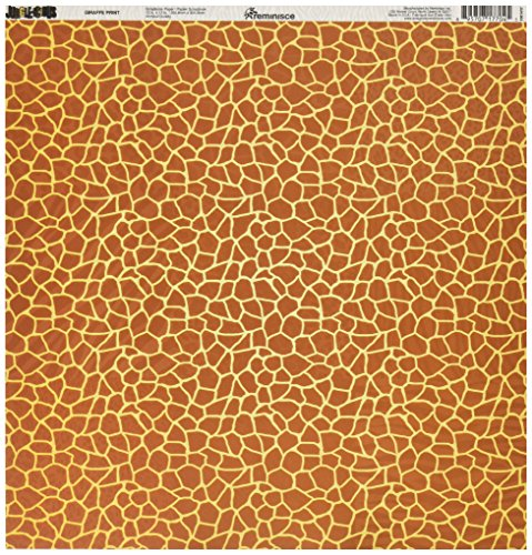 - Reminisce Jungle-icious 12 by 12-Inch Double Sided Scrapbook Paper, Giraffe Print