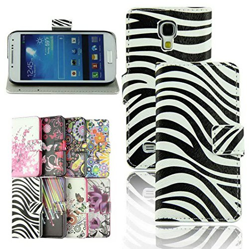 Voberry Stylish Wallet Design Stand Premium Leather Flip Folio Magnetic Case Cover for Samsung Galaxy S4 Mini i9190