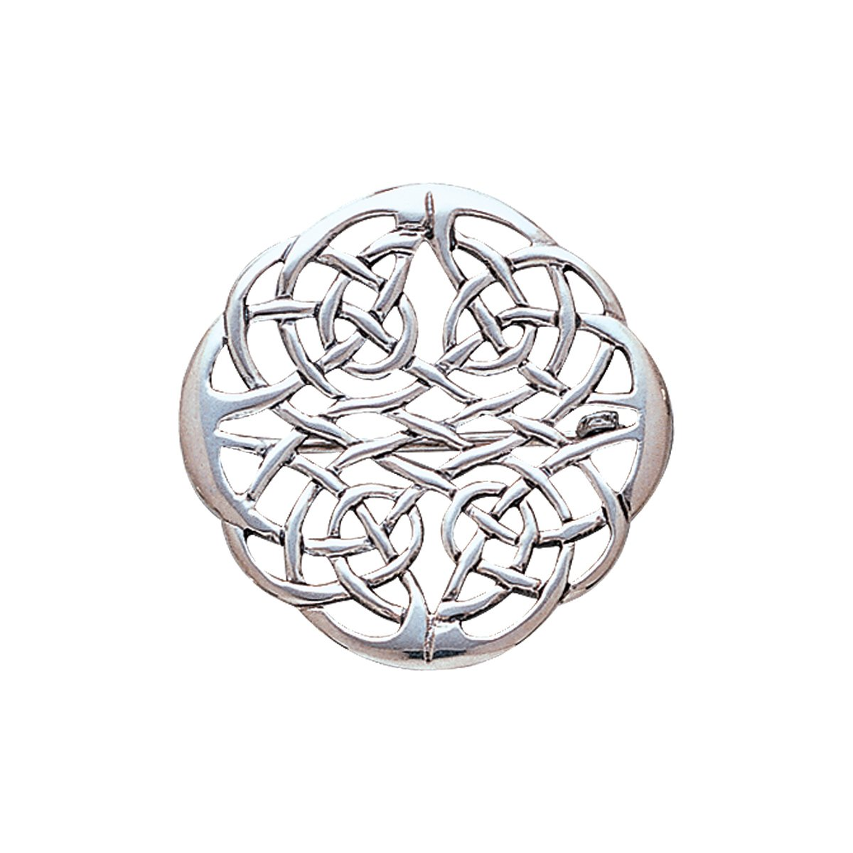 Jewelry Trends Sterling Silver Round Elegant Celtic Knot Work Brooch Pin by Jewelry Trends (Image #1)