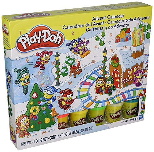 Play-Doh - B21999 - Modeling Compound Toy - Xmas Advent Calendar - Includes 5 Colour Tubs -