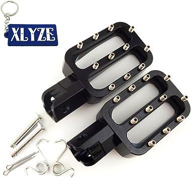 XLYZE Black CNC Aluminum Footpegs Foot Rest Pegs for Chinese XR50 CRF50 CRF70 KLX110 TTR YCF Piranha IMR Pitsterpro Pit Dirt Trail Bike