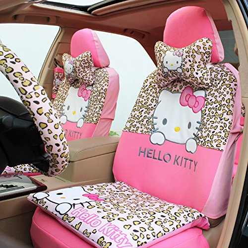 Universal Hello Kitty Car Front And Rear Seat Covers Accessories15PCS