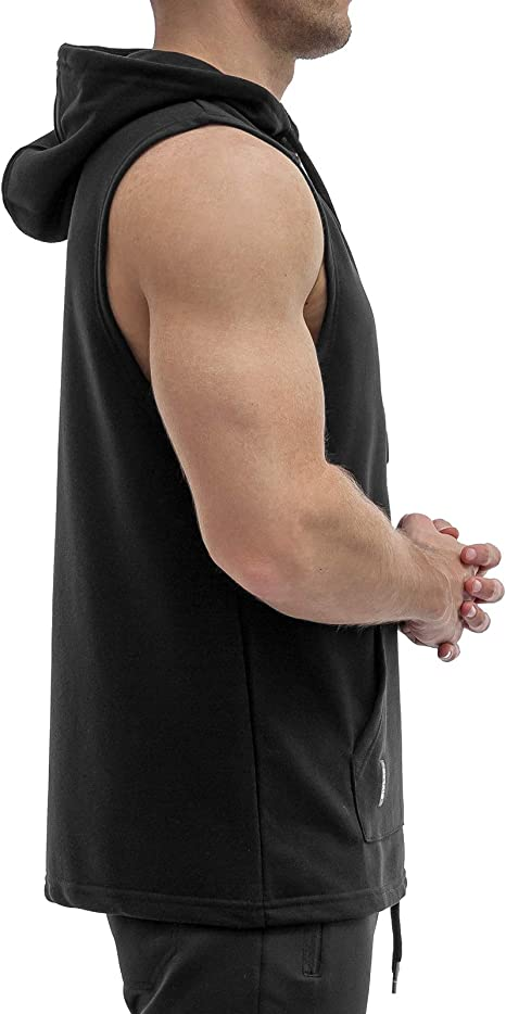 Sixlab French Terry Washed Tank Top Herren Fitness Muscle Gym Shirt