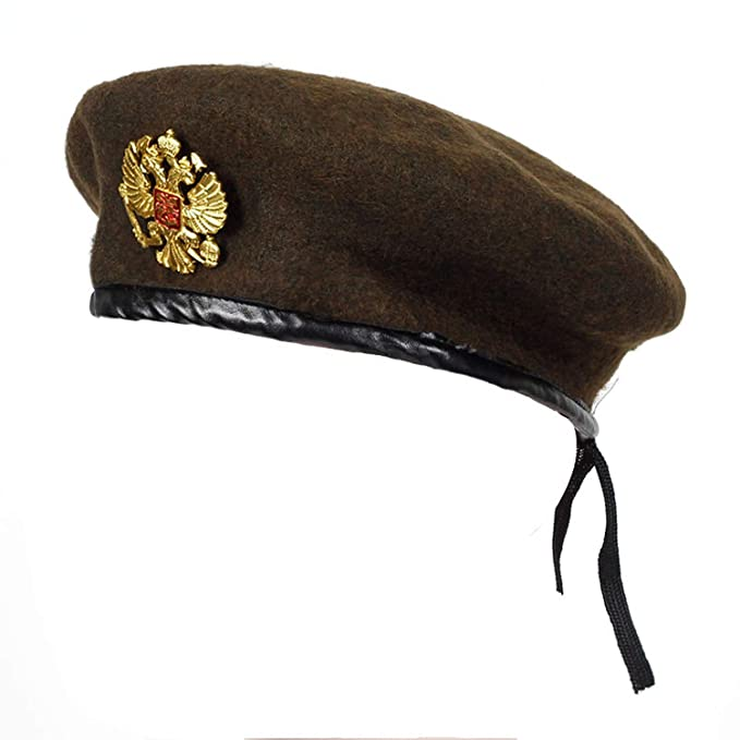ba714ab1f66 Image Unavailable. Image not available for. Color  Winter Wool Knitted  Russian Army Beret Hat ...