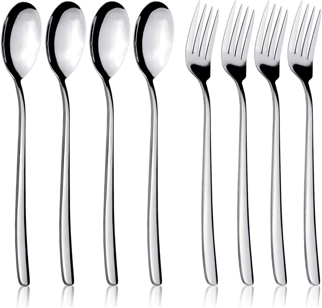 8 Pieces Stainless Fixed price for sale Steel 4 Forks Challenge the lowest price of Japan and Spoons Inch ï¼