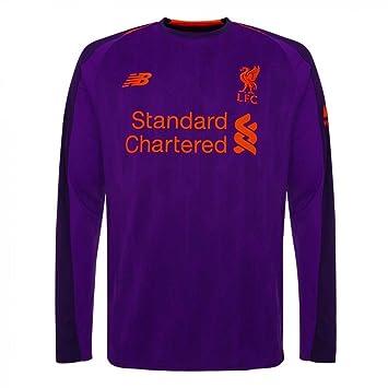 59eeda015 New Balance Liverpool FC Long Sleeve Boys Football Away Shirt 18 19 LFC  Official