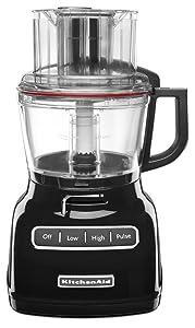 KitchenAid KFP0933OB 9-Cup Food Processor with Exact Slice System - Onyx Black