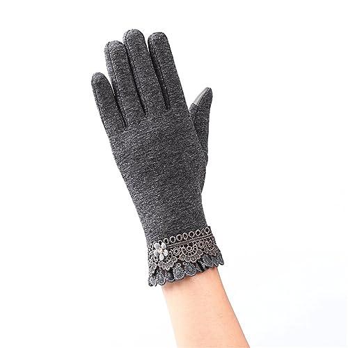 guante de mujer, Kfnire invierno nuevo estilo mujeres guantes de conducción a prueba de viento mujer...
