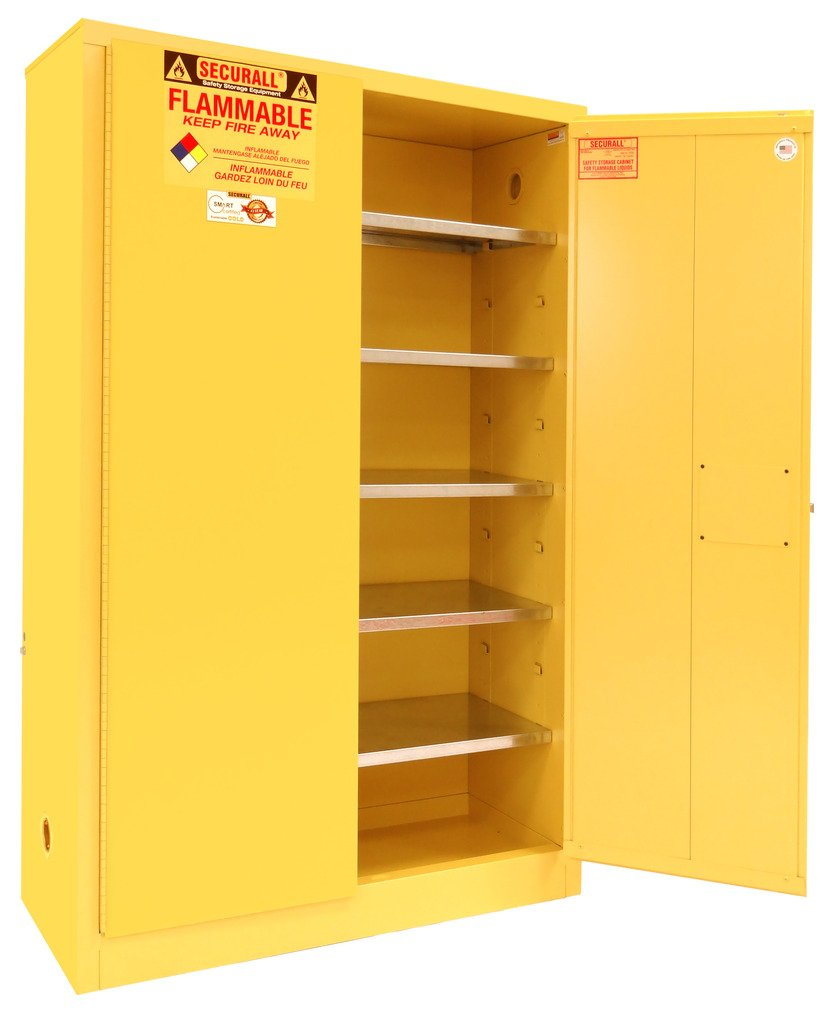 Amazon.com SECURALL P160 Paint/Ink Storage Cabinet 2 Doors 15 YR Warranty 65 x 43 x 18 IN 18-Gauge Steel 60-Gal Cap 5-Adj Shelves FM Approved ...  sc 1 st  Amazon.com & Amazon.com: SECURALL P160 Paint/Ink Storage Cabinet 2 Doors 15 YR ...
