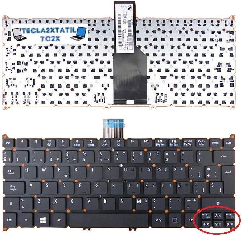 Teclado para PORTATIL Acer Aspire S3 MS2346 EN ESPAÑOL Nuevo Negro con Ñ Castellano SIN Marco