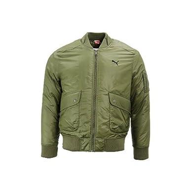 595bf303e9a2 Puma Mens Green Bomber Jacket Army Flight Pilot Jacket Sizes M L XL (XL)   Amazon.co.uk  Clothing