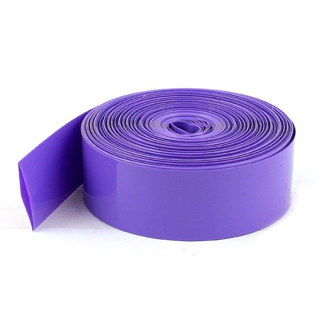 sourcingmap® 5m 16.4ft viola PVC termoretraibile avvolgere tubo cavo 23mm larghezza per 1xAA batteria sourcing map a15012300ux0257