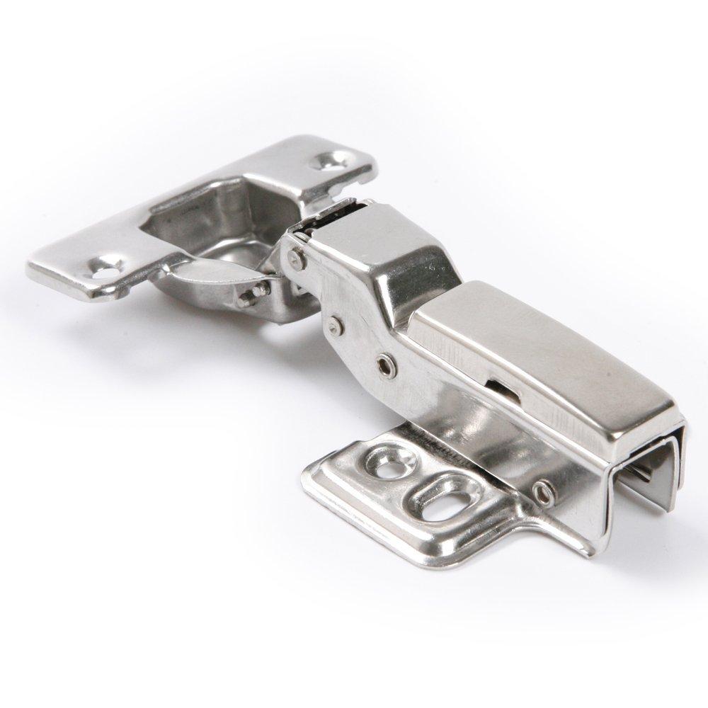 Atoplee 2pcs 35mm Full Overlay Close Satin Nickel Cabinet Hinge Damper Cupboard Closet Door Hardware with Screw