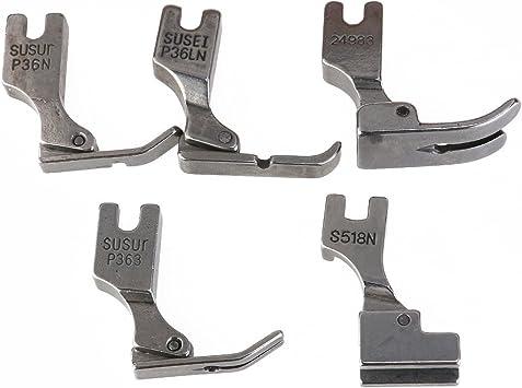 Pixnor 5 unidades de prensatelas para máquina de coser industrial ...