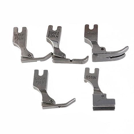 PIXNOR 5pcs Pies prensatelas para máquina de coser Industrial Juki S518NS P36LN P36 N P35 P363