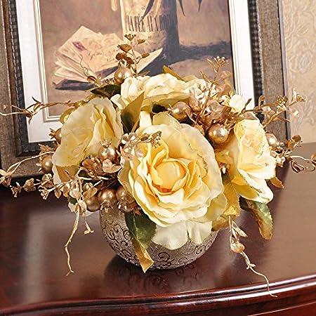 Jinyidianshop kim joo better kogane ball continental small table jinyidianshop kim joo better kogane ball continental small table floral finished kit artificial mightylinksfo