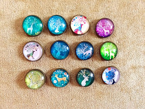 12Pcs Decorative Glass Push Pins,Cork Board Tacks,Bulletin Board Tacks,Thumb Tack Decorative for CorkBoard, Office Organization or Home (S2) (Cute Bulletin Boards)