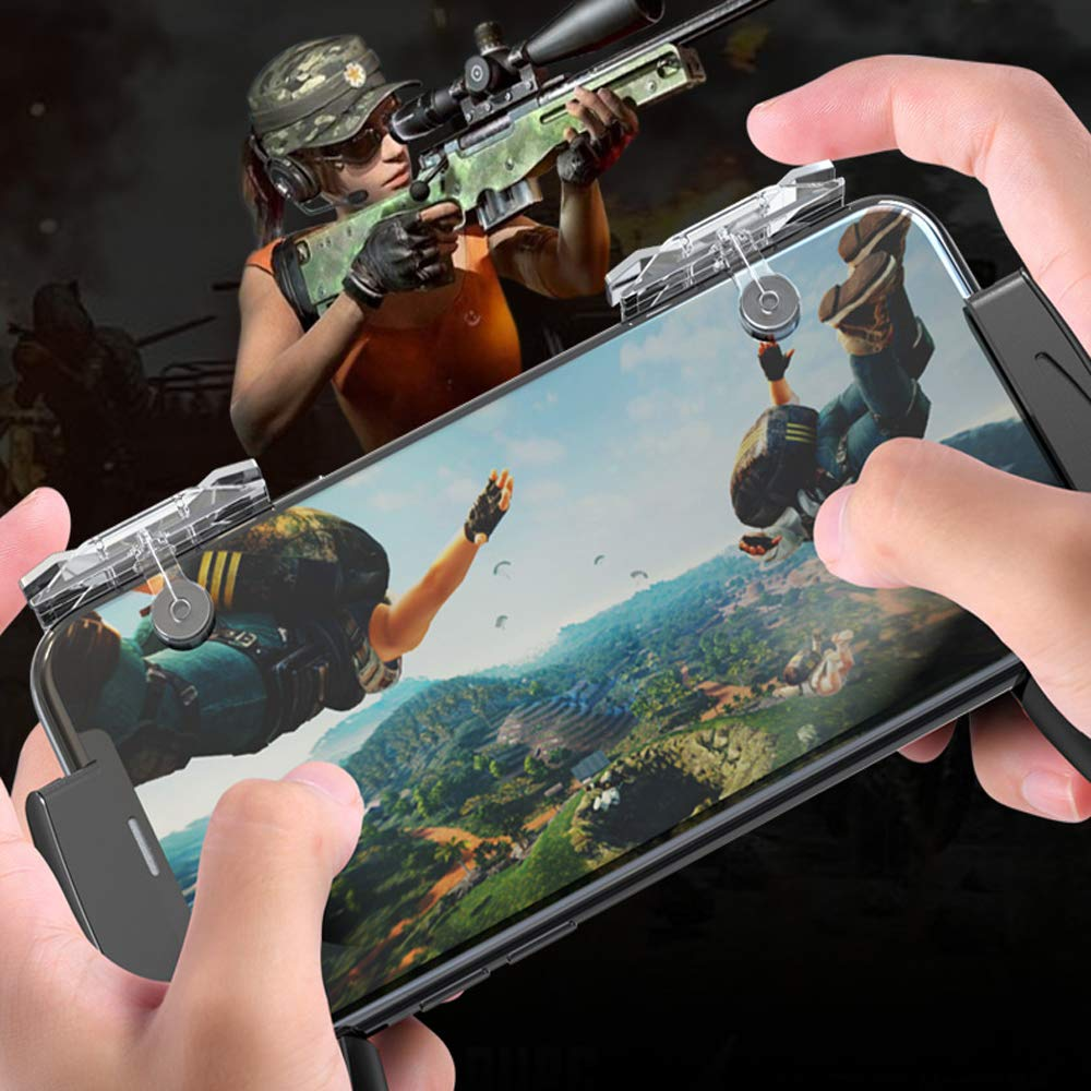 Usee Mobile Trigger Gaming Controller Sensitive Shoot L1R1 Game Triggers Mobile Controller E9 for PUBG Mobile//Knives Out//Rules of Survival 1Pair
