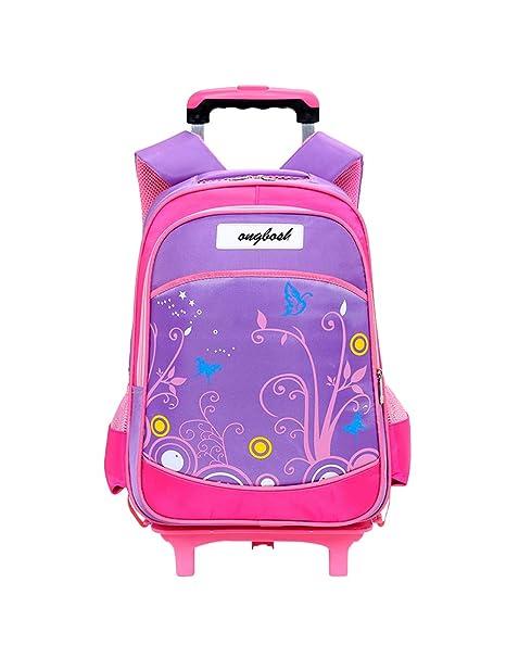 Zhuhaijq Moda Mochila de Ruedas para Estudiantes - Niños Niñas Ligero llevar equipaje Mochila escolar Bolsa de Hombro Travel: Amazon.es: Ropa y accesorios