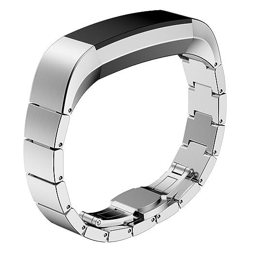 1 opinioni per Fitbit alta bande di HR, Pugo top Premium in acciaio INOX di Watch Band con