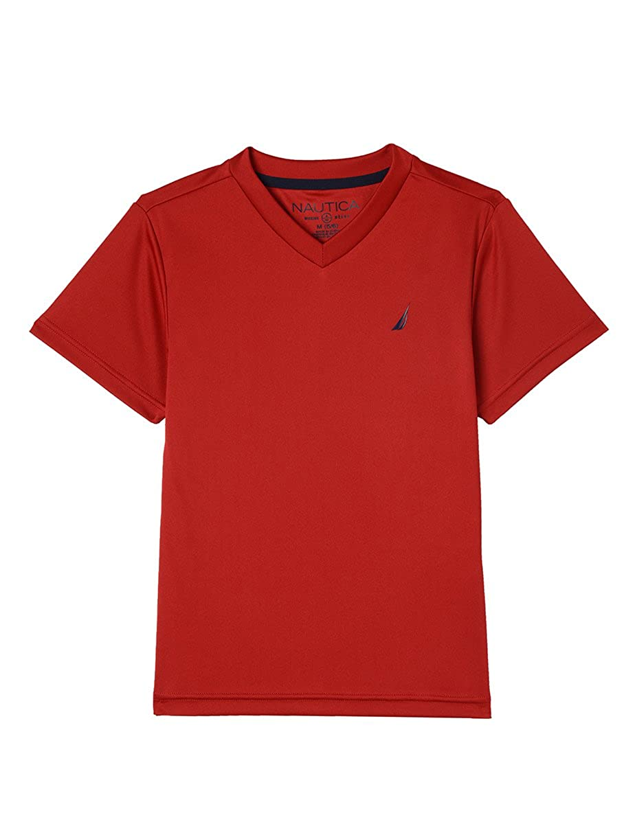 Nautica Boys' Short Sleeve Solid V-Neck T-Shirt