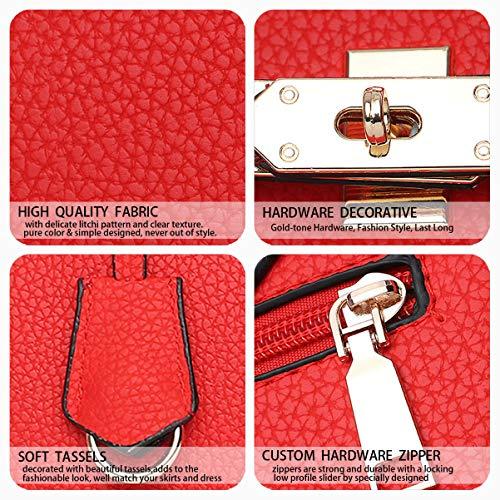 Rojo bandolera Limón clutches Carteras hombro y mano bolsos de Bolsos y de Mujer Shoppers Y7CwUU