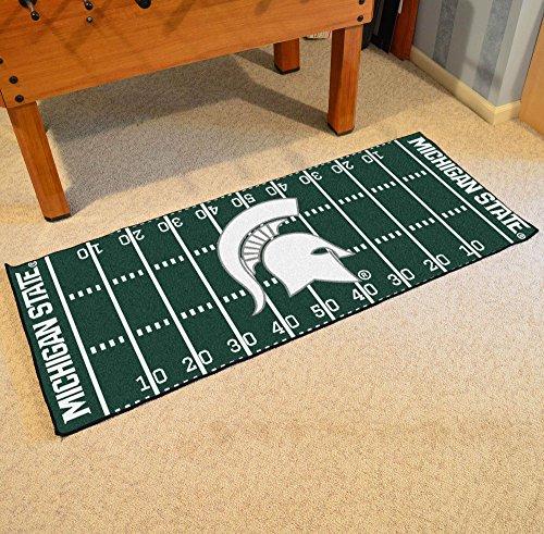 Michigan State Spartans Rug - FANMATS 7550 Michigan State University Football Field Runner