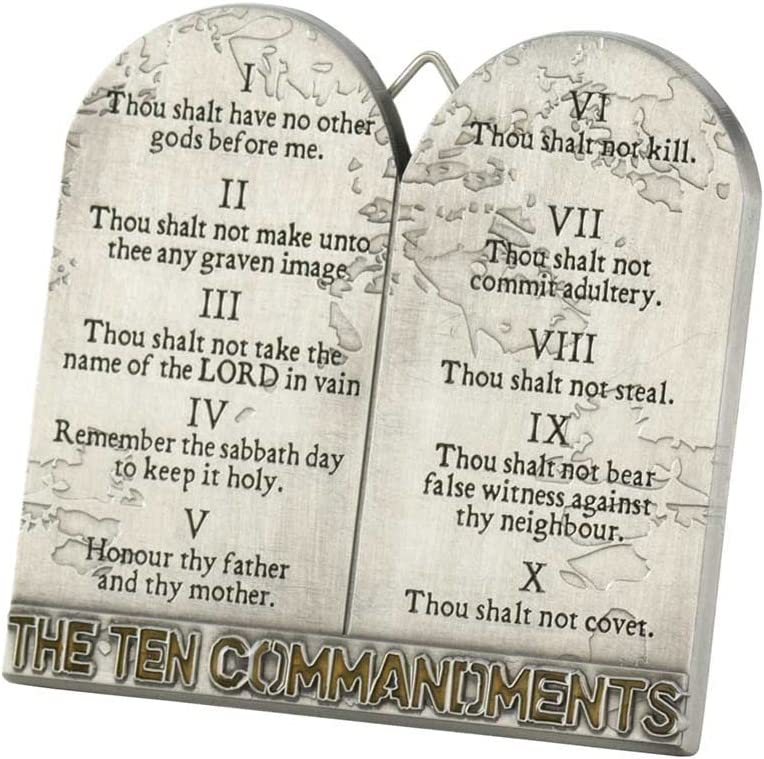 Dicksons The Ten Commandments Tablets 3 Inch Metal Easelback Wall Cross Sign
