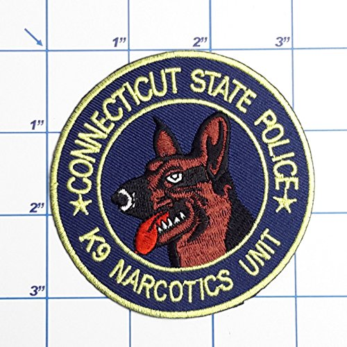 MINEJ - 1pc US POLICE PATCHES - Full Size Embroidered Iron-On Patch Series, 60+ DESIGNS! # Connecticut State Police Narcotics