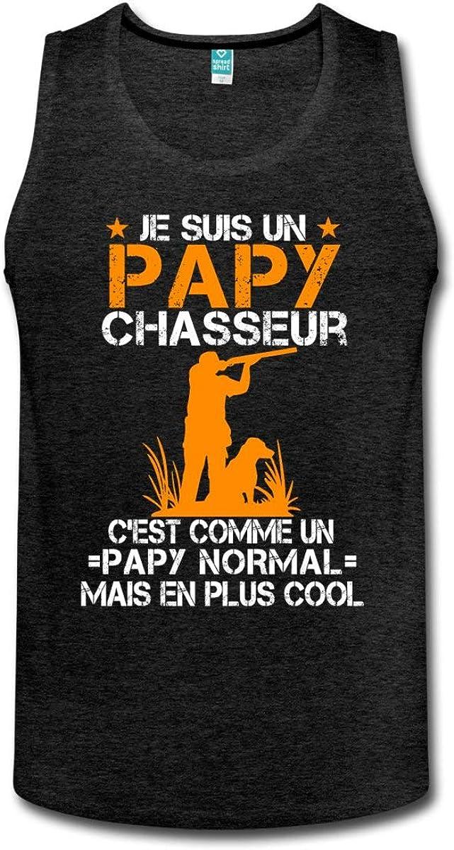 Spreadshirt Papy Chasseur Cool D/ébardeur Premium Homme