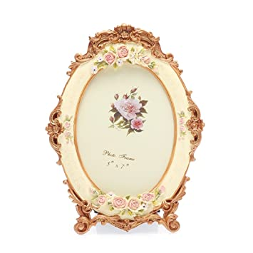 Amazoncom 5x7 Inches Victorian Floral Oval Picture Frame