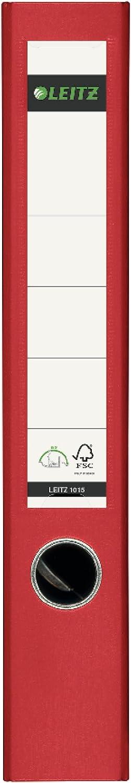 Rouge Import Allemagne Leitz Lot de 3 classeurs en plastique A4 180/° dos 8/cm