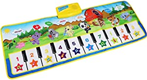 ZLWPH Children's Music Mat, Baby Piano Mat Tactile Game Game Dance Children's Early Education Music Carpet Mat Animal Blanket, Toys Gifts Gifts