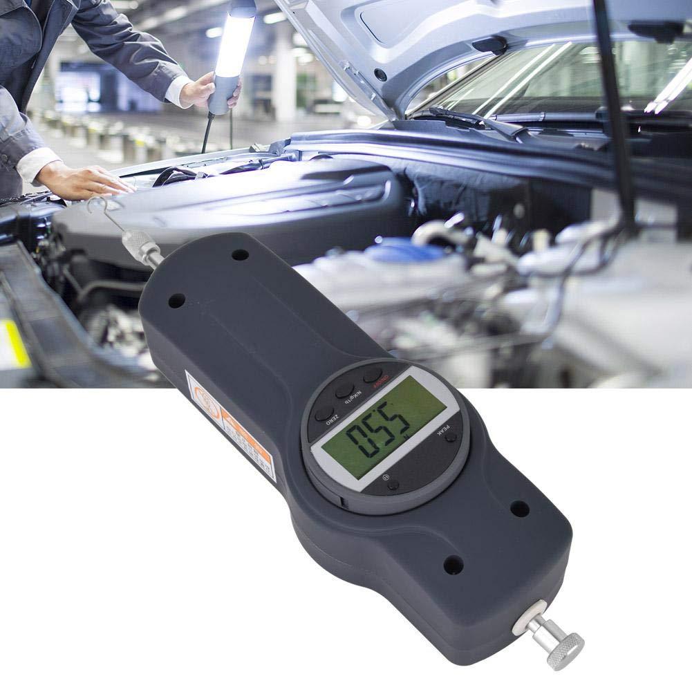 dinamometro elettronico multifunzione a scala sospesa 3 unit/à di misura N//KG//lb con 5 teste laterali utilizzate nellindustria leggera Misuratore di forza digitale tessile edilizia 50N