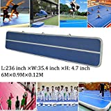 20 FT Inflatable Gym Mat Air Track Floor Tumbling Gymnastic Mats for Home Use Cheerleading,Beach,Park