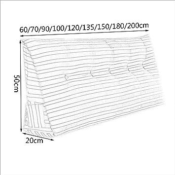 LQQGXL,Cojín, Cojín Triangular de la Cabeza de la Cama, Almohada Lumbar de la Almohada de la Cama del Respaldo Doble (Color : A, Tamaño : 200cm(7 Buttons)): ...