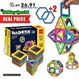 2 year old boy toys educational - MAGNETOS Magnetic Blocks Building Set for Kids, 30+2 Pcs Educational Toys for Boys & Girls, FREE Booklet, Learning Construction Game, Best Christmas Birthday Gift & Preschool STEM Toy for Childrens