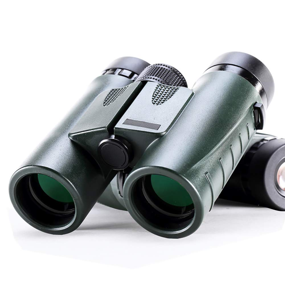 LWPCP Compact Binoculars Military Type HD with Optical 8x32 Zoom Telescopic Powerful Vision Lens Color Military Green for Sport Hunting