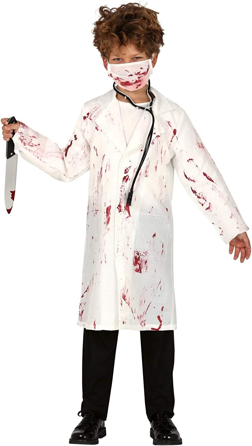 Childrens Boys Zombie Doctor Halloween Costume Fancy Dress Outfit