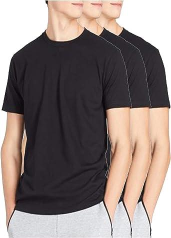 Camisetas para hombre, paquete de 3 camisetas, camiseta elástica, paquete de 3, camiseta de gimnasio, camiseta negra, camiseta blanca y camiseta de ...
