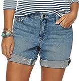 Chaps Womens Cuffed Convertable Denim Shorts, Freeport Wsh (4)