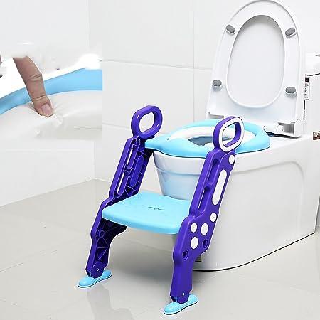 WC Escalera para El Asiento del Inodoro para el baño con el Juego de escaleras y escaleras asegura la Superficie Antideslizante 30.5 * 24 * 62cm (Color : A): Amazon.es: Hogar