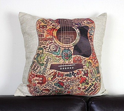 Guitar Decorative Pillow Cover HF22 product image
